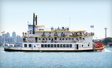 $19 for Two-Hour Cruise of Lake Union and Ship Canal from Queen of Seattle Paddle Wheel Cruises (Up to $39 Value)