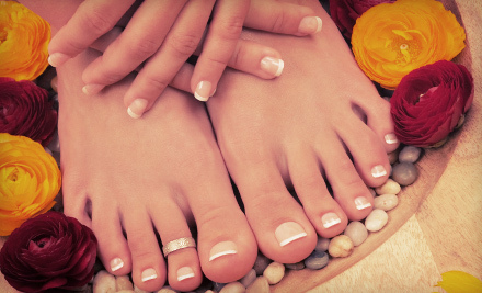 Mani-Pedi Packages at Galaxy Nail Spa in Walnut Creek (Up to 55% Off). Multiple Options Available.