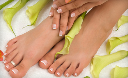 Mani-Pedi with Optional Hot-Stone Foot Massage at Vanity SpaSalon in Sunnyvale (Up to 69% Off)
