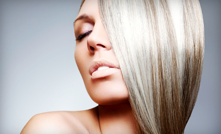 Haircut Package with Partial or Full Highlights, or Keratin Treatment at Mint Hair Studio (Up to 60% Off)