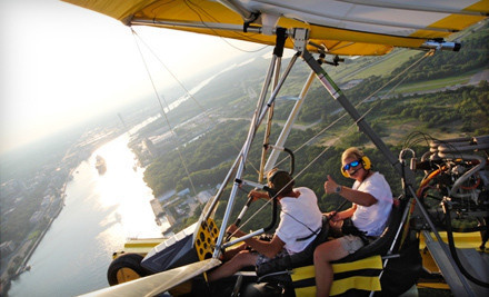 $  85 for a 45-Minute Powered Hang-Gliding Lesson with Video from Amphibian Air ($  170 Value)