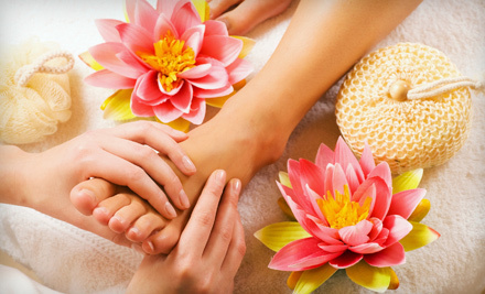 One or Two Warm-Mask Spa Pedicures with a Complimentary Glass of Wine at Trendy Nails (Up to 53% Off)