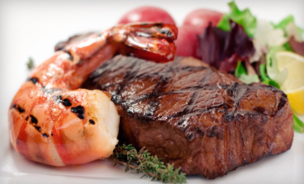 $  15 for $  30 Worth of Surf 'n' Turf Cuisine and Drinks at Nick's Steak and Seafood