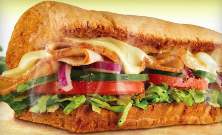 One Party Platter or Meal for Two with Regular Foot-Long Sub, Chips, and Cookies at Subway (Up to Half Off)