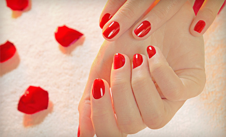 Shellac Manicure with Optional Rockstar Shellac Pedicure at Nails by Tami (51% Off)