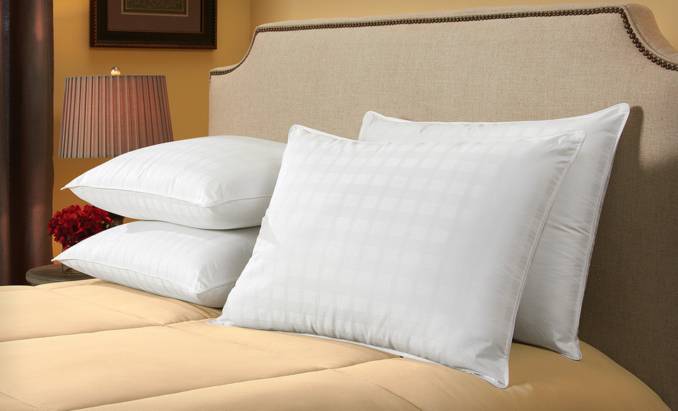 Sealy Dobby-Check Cotton Pillows Four-Pack for Standard/Queen or