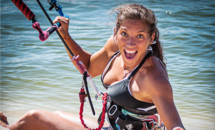 Group Kitesurfing Lesson for Two Hours on Land or Three Hours on Water at Live2kite (Up to 53% Off)