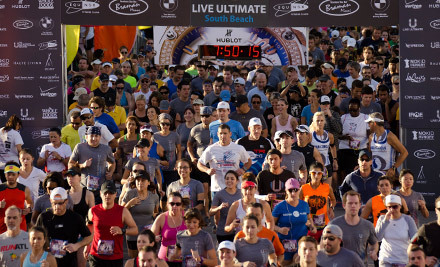 Entry for One, Two, Three, or Four to the Live Ultimate RUN 5K Run/Walk or Quarter Marathon on June 30 (Up to 55% Off)