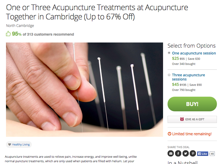 Acupuncture Practice Finds No Stress Success with Groupon