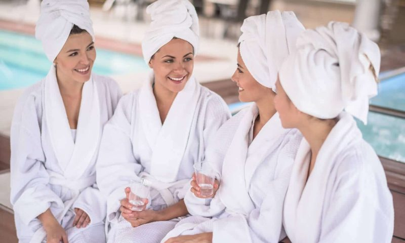 Social Media Best Practices to Grow Spa: Women in towels