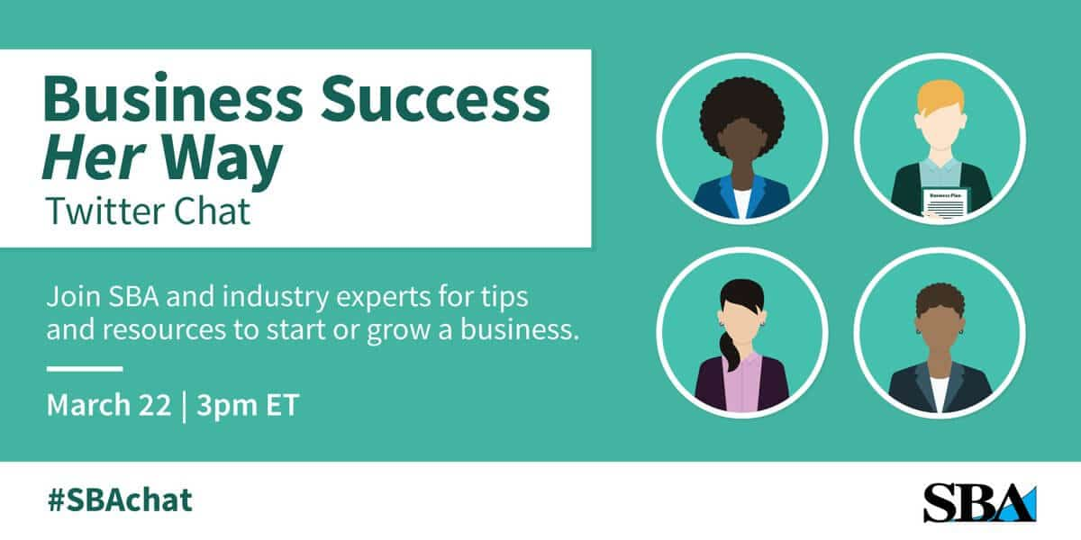 Twitter Chat Roundup: Business Success Her Way with SBA